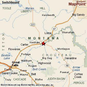 Fort Benton MT Map