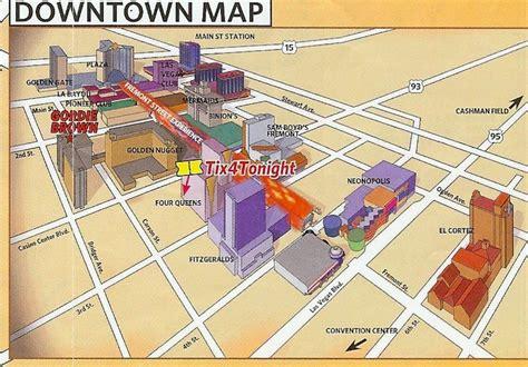 Fremont Street Las Vegas NV Map