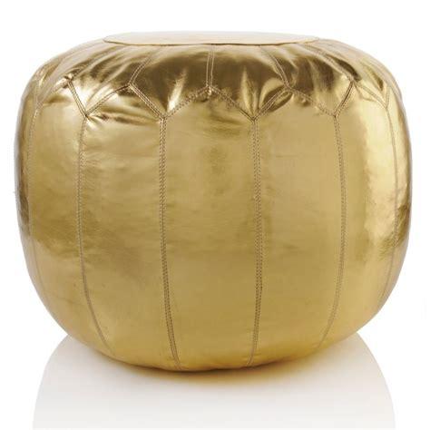 Gold Pouf Nate Berkus