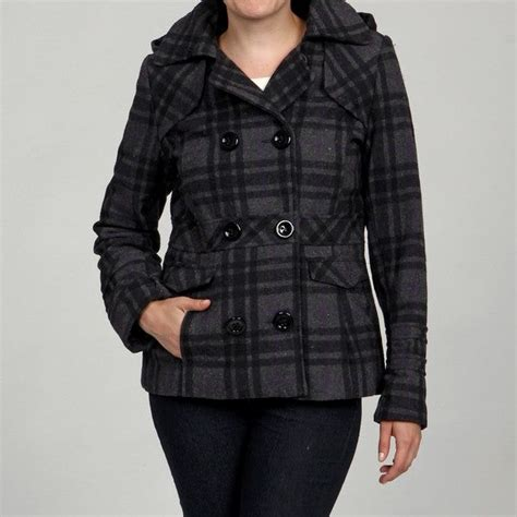 Hooded Pea Coats for Juniors