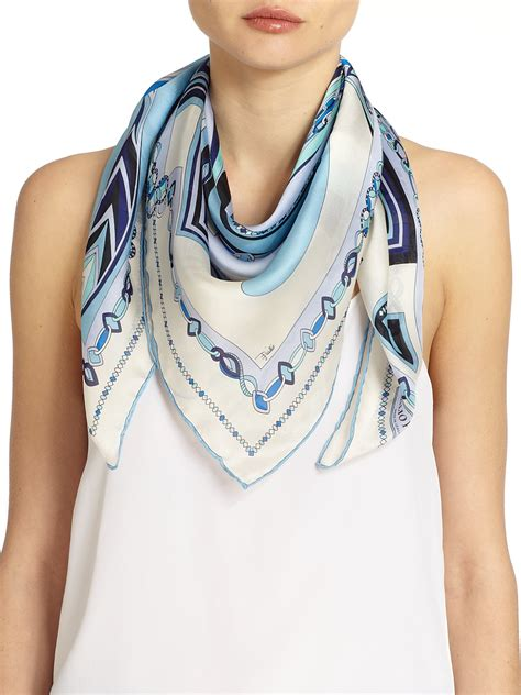 How to Wear a Square Scarf Emilio Pucci