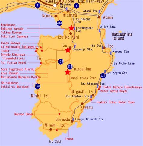Izu Japan Map