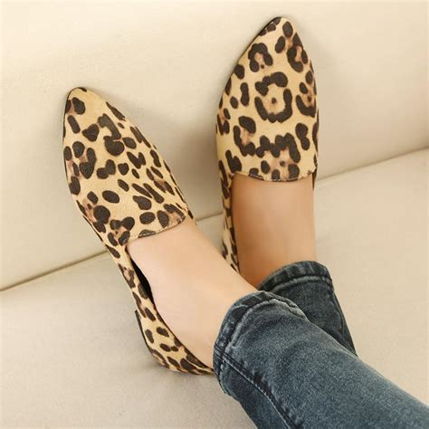 Leopard Flats Shoes for Women