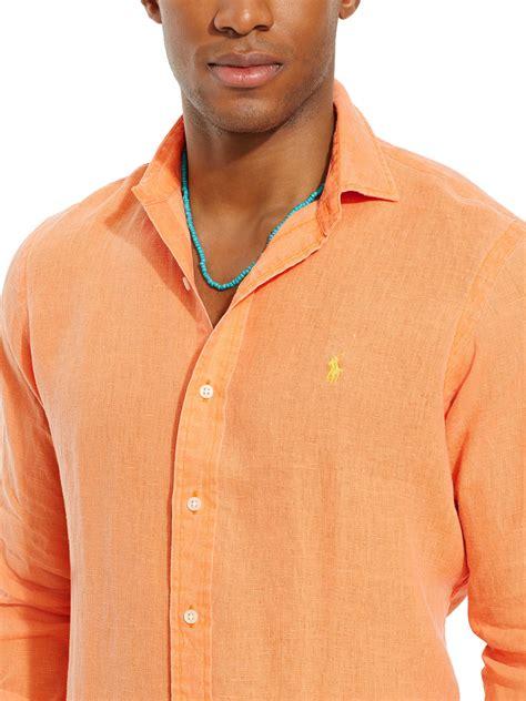 Long Shirt Orange Men