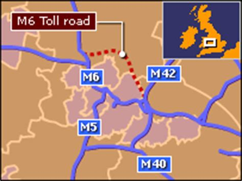 M6 Toll Road Map