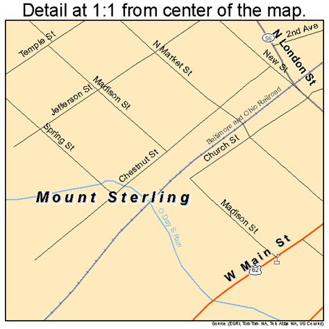 MT Sterling Ohio Map