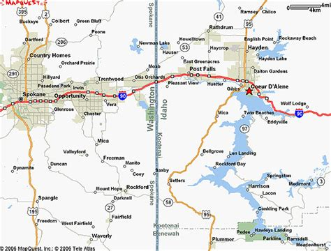 MapQuest Coeur D'alene