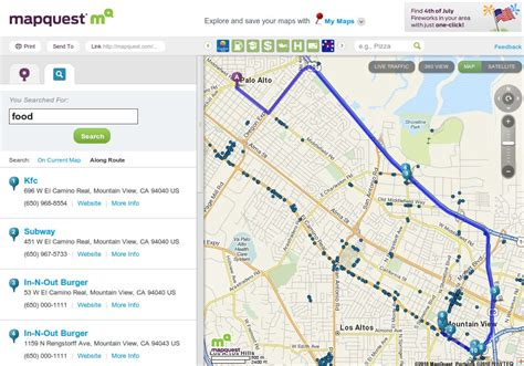 MapQuest Homepage