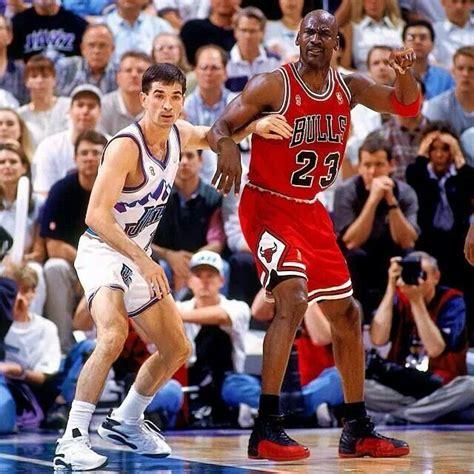 Michael Jordan and John Stockton