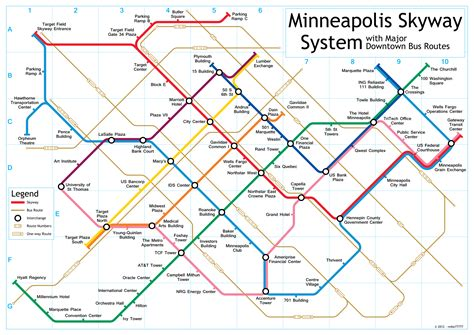 Minneapolis Skyway System Map
