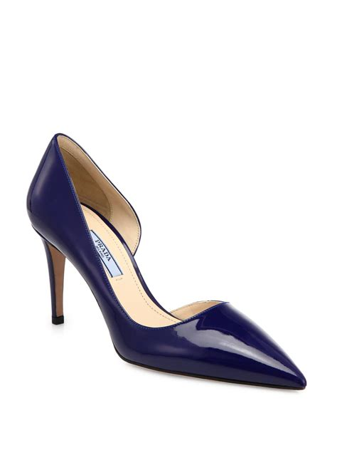 Navy Patent Leather Pumps