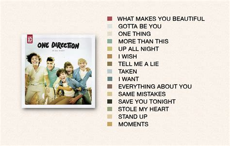 One Direction Up All Night Tracklist