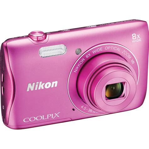 Pink Nikon Camera Coolpix