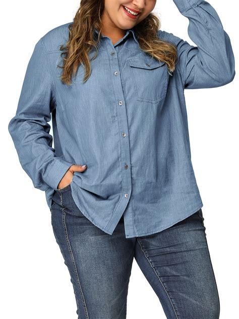 Plus Size Denim Shirt