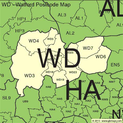 Postcode Areas Watford