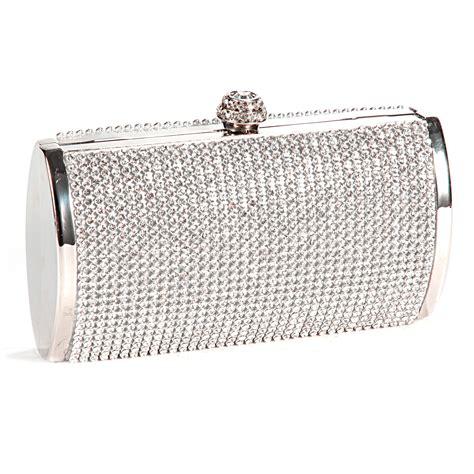 Silver Clutch Evening Bag