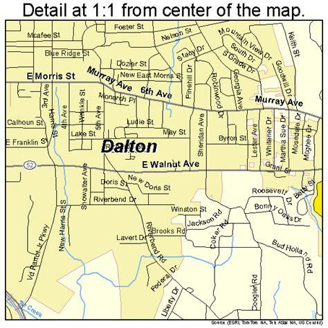 Street Map of Dalton GA