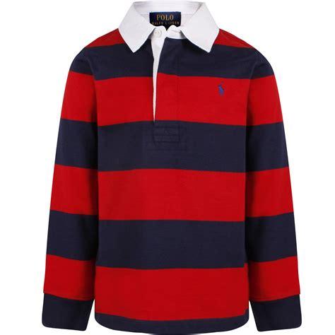 Striped Long Sleeve Polo Shirts
