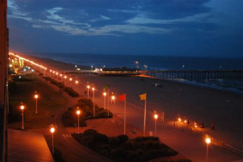 Virginia Beach VA at Night