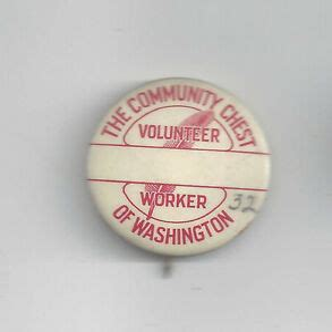 Volunteer Button Advertising