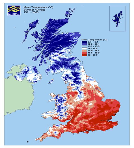 Weather Map United Kingdom