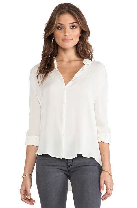 White Silk Shirt Women
