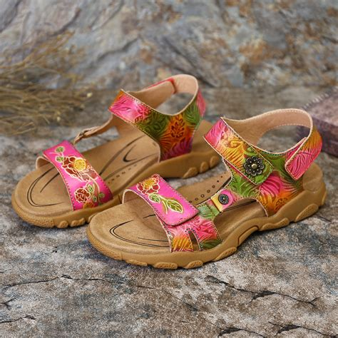 Women's Leather Flower Shoes
