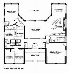 southwest house plans with courtyard house plan 90883 southwest style plan with 2790 sq ft 4