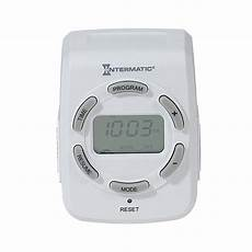 intermatic 15 2 outlet digital residential lighting timer at lowes com