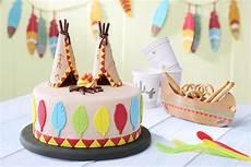 Geburtstagskuchen Mit Tipi Und Indianern Geburtstag