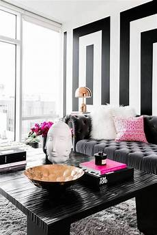 wohnzimmer schwarz weiss black and white modern home decor ideas living home
