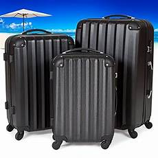 tectake suitcase trolley set of 3 lightweight