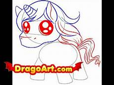 how to draw a chibi unicorn step by step