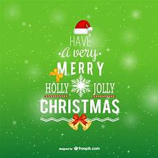merry christmas typography free vector