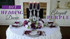 elegant diy wedding centerpieces purple wedding decoration ideas youtube