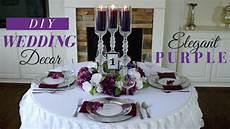 elegant diy wedding centerpieces purple wedding