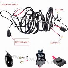 40 off road atv jeep wrangler led light bar wiring harness with relay off switch buy