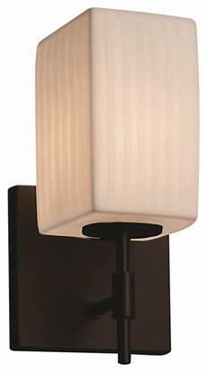 justice design group llc limoges union 1 light short wall sconce square with flat rim wall