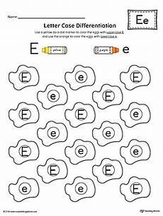 lowercase letter e worksheets 24621 letter recognition worksheet letter e myteachingstation