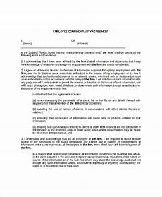 employee confidentiality agreement 10 free word pdf documents download free premium