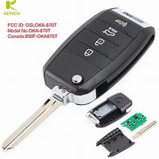 keyecu replacement flip remote car key fob 3 1 button for
