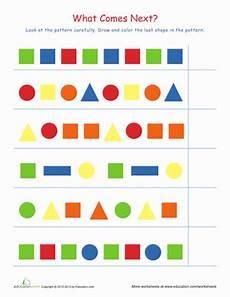 identifying patterns worksheets for grade 1 123 shape patterns worksheet education