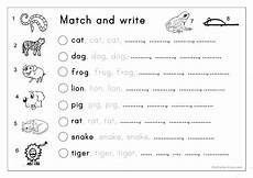 animal letter worksheets 13939 matching letter tracing writing animals worksheet free esl printable worksheets made by