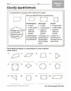 classify and categorize worksheets 5th grade 7970 classify quadrilaterals reteach 15 4 worksheet quadrilaterals classifying quadrilaterals