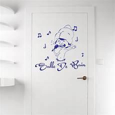 Sticker Porte Salle De Bain Musicale Stickers Portes