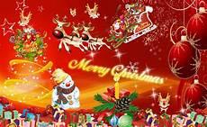 merry christmas tree lights snow man santa animated hd wallpaper