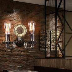 retro loft style industrial vintage wall light fixtures for home water pipe l edison wall