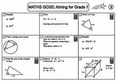 algebra worksheets year 7 tes 8696 gcse maths revision pack aiming for grade 7 teaching resources
