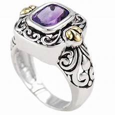 balinese wedding ring sterling silver natural amethyst bali jewelry