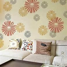 happy floral wall art stencil extra small easy diy wall decor stencils ebay